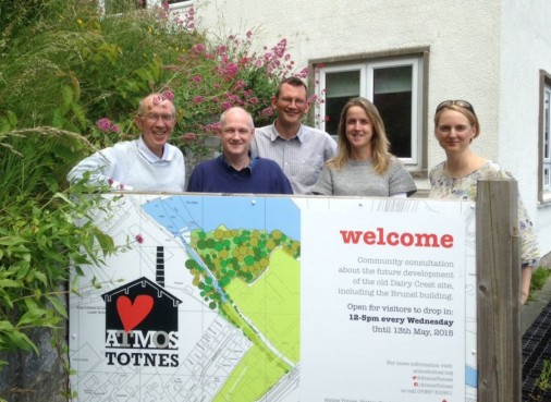 Totnes Community Development Society: (l-r: Ed Vidler, Dave Chapman, Rob Hopkins, Frances Northrop, Anna Lodge).