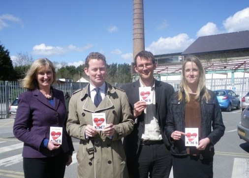 [Left to right] Dr Sarah Wollaston MP, Greg Barker MP, Rob Hopkins (Transition Network), Frances Northrop (Transition Town Totnes).